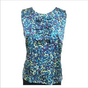 Silk sleeveless ruffel blouse size small